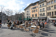 Place ce bourg de Four, Geneva Royalty Free Stock Photography