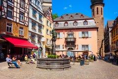Place centrale dans Cochem, Allemagne photographie stock
