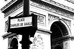 Parisian Street Signs stock photography
