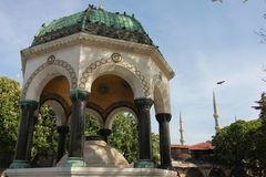 Place close to Sainte-Sophie (Hagia Sophia) mosque Istanbul, Turkey Stock Image