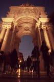 Place commerciale (Praca font Comercio) à Lisbonne, Portugal Photographie stock libre de droits