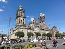 """The place of the Constitution """"Zócalo"""" – Ciudad de Mexico - Mexico. The place of the Constitution in Spanish, Plaza de la Constitución royalty free stock photos"""