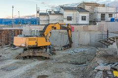 Place of construction of single-family homes stock photography