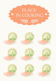 Place in cooking. Icons set for your cookery site Royalty Free Stock Photos