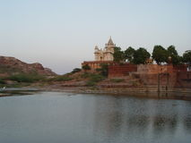 Place of cremation of the Maharaja. India - Rajasthan - Jodhpur Royalty Free Stock Image