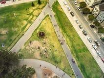 Place d'Alamo de vue supérieure et maisons victoriennes historiques en le franc de San photographie stock libre de droits