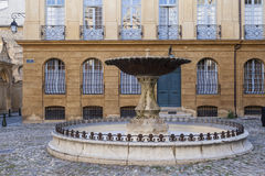 Place d' Albertas Fountain Royalty Free Stock Photography