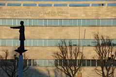 Place d'Alexandrie dans l'avant à l'hôtel de ville photographie stock