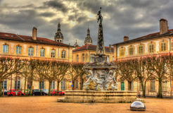 Place d'Alliance with the fountain - Nancy Royalty Free Stock Photo