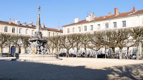 Square of Nancy, France. Place d'Alliance is a square located in the city of Nancy, in the northeast of France, in the Lorraine region. In the centre is a stock footage