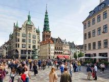Place d'Amager à Copenhague image libre de droits