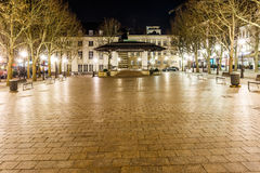 Place d'armes in the night, Luxembourg Stock Photos