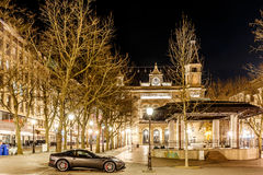 Place d'armes in the night, Luxembourg Royalty Free Stock Photo
