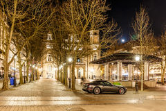 Place d'armes in the night, Luxembourg Stock Image