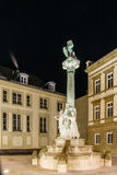 Place d'armes in the night, Luxembourg. Europe Stock Image