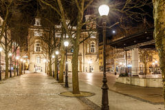 Place d'armes in the night, Luxembourg. Europe Royalty Free Stock Photos