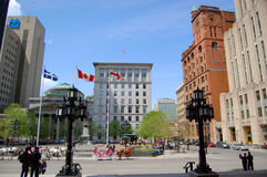 Place d'Armes in Old Montreal Royalty Free Stock Images