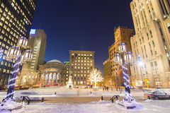 Place d'Armes in winter Royalty Free Stock Photo