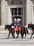 Place d'arsenal de cavaliers de horseback, Espagne Image libre de droits