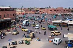 Place d'EL Fna de Djemaa, Marrakech Photo libre de droits