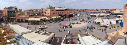 Place d'EL Fna de Djemaa, Marrakech Photos stock