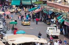 Place d'EL Fna de Djemaa, Marrakech Photos libres de droits