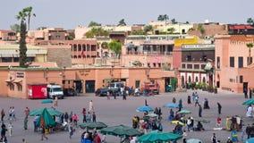 Place d'EL Fna de Djemaa, Marrakech Photographie stock