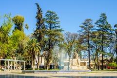 Place d'Espana Espagne de plaza, en Mendoza Photographie stock