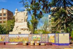 Place d'Espana Espagne de plaza, en Mendoza Image libre de droits