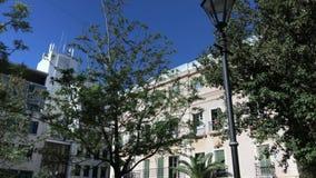 Place d'hôtel de ville du Gibraltar banque de vidéos