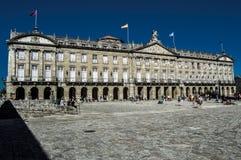 Place d'Obradoiro Images libres de droits