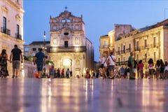 Place d'Ortygia Photo libre de droits