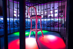 Place for dancer with chair in the nightclub Pacha Royalty Free Stock Photography