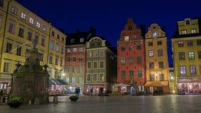 Place dans la vieille ville de Stockholm banque de vidéos