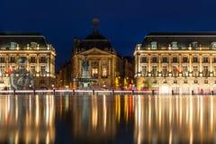 Place de Λα Bourse στην πόλη του Μπορντώ, Γαλλία στοκ εικόνες
