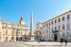 Place de Λα Republique σε Arles, Γαλλία Στοκ φωτογραφίες με δικαίωμα ελεύθερης χρήσης