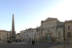 Place de Λα Republique, Arles, Γαλλία Στοκ εικόνες με δικαίωμα ελεύθερης χρήσης