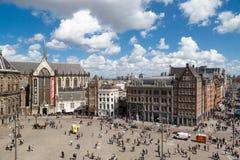 Place de barrage d'Amsterdam Photos libres de droits