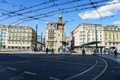 Place de Bel Air, Γενεύη, Ελβετία Στοκ Φωτογραφίες