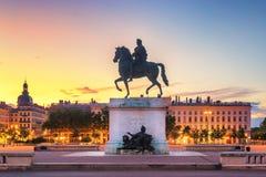 Place de Bellecour, Lyon - Francia imagenes de archivo