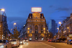 Place de Brouckere, Brüssel, Belgien stockbilder