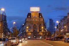 Place DE Brouckere, Brussel, België stock afbeeldingen