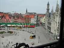 Place de Bruges from Belfort Royalty Free Stock Photography