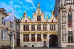 Place de Burg à Bruges photo stock