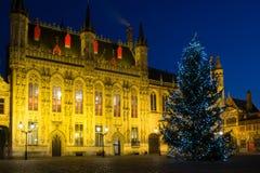 Place de Burg à Bruges, Belgique image stock