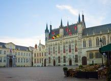 Place de Burg, Bruges image libre de droits