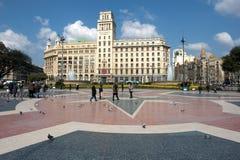 Place de Catalunya Images libres de droits