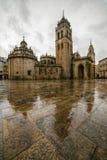 Place de cathédrale de Lugo Images libres de droits