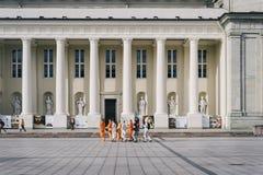 Place de cathédrale, vieille ville de Vilnius Photographie stock libre de droits
