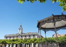 Place de Cervantes, Alcalá de Henares Photos stock